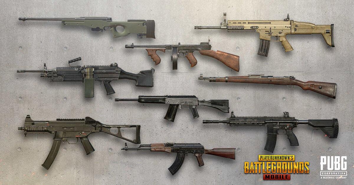 اسلحة لعبة ببجي الفعالة التي تدعمك للفوز